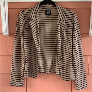 🖤 Mine | Tan and Black Striped Blazer